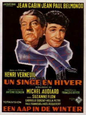 Обезьяна зимой / Un singe en hiver (1962)